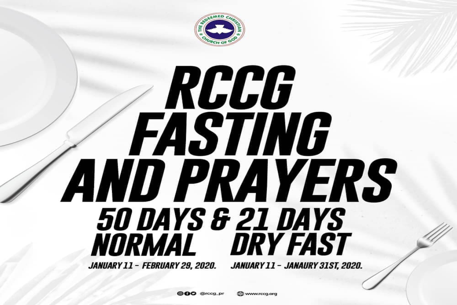 2020 RCCG Annual Fasting and Prayers